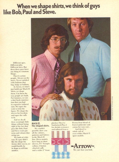 vintage menswear arrow shirt ad