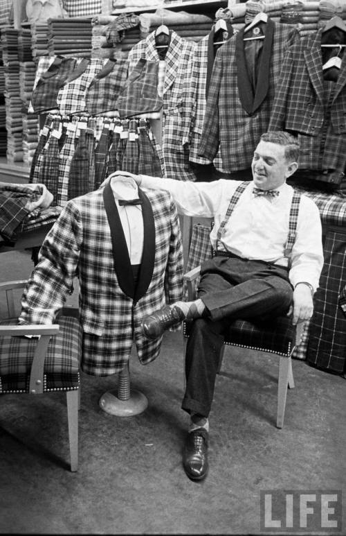 plaid dinner jacket