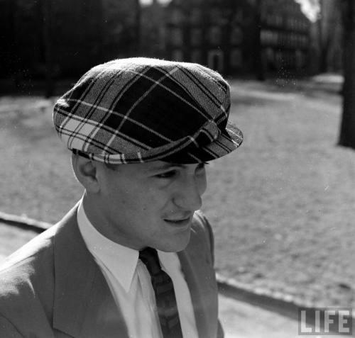 plaid cap hat