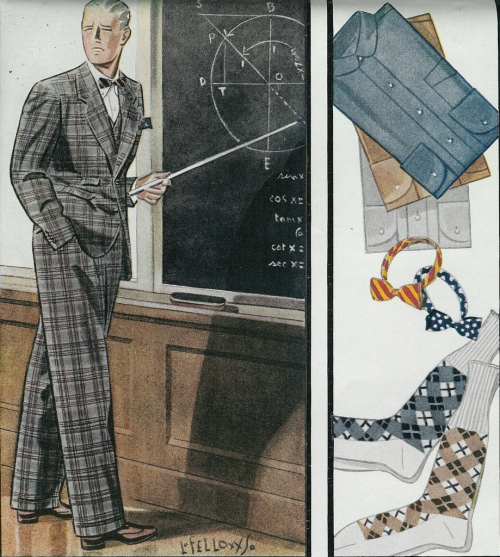 Gentle reminder that clothes do not make the man.  --Esquire magazine.