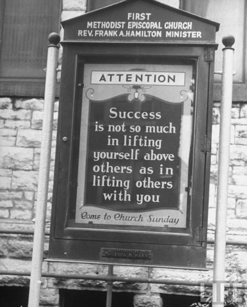 vintage antique church sign
