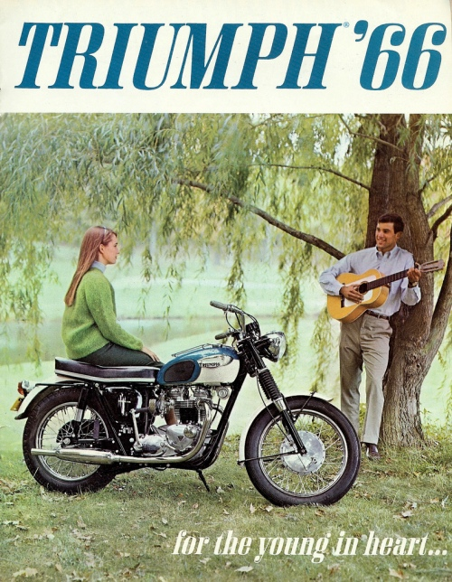 1966 Triumph motorcycle ad