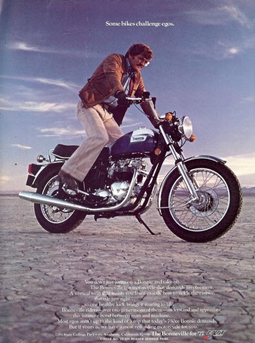 Vintage Triumph Motorcycle ad