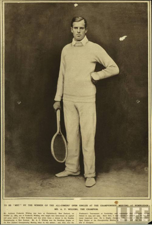 Mr. A. F. Wilding, Wimbledon Champion.