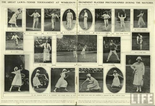 THE GREAT LAWN-TENNIS TOURNAMENT AT WIMBLEDON: PROMINENT PLAYERS PHOTOGRAPHED DURING THE MATCHES.