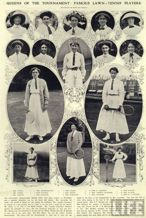 QUEENS OF THE TOURNAMENT: FAMOUS LAWN-TENNIS PLAYERS; WIMBLEDON.