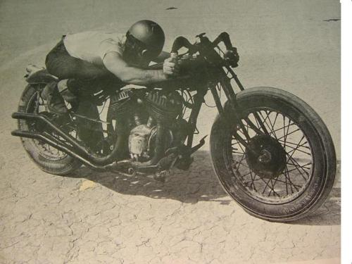 "Mad Max Bubeck on his famous & record setting Indian ""Chout""."