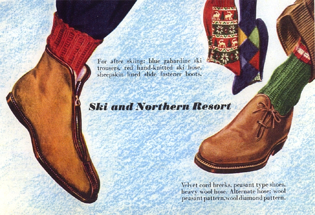 Vintage Esquire Spread Proper Footwear For The Gent
